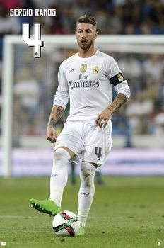 Real Madrid 2015/2016 - Sergio Ramos accion Affiche