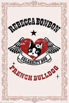 REBECCA BONBON - french bulldog Affiche