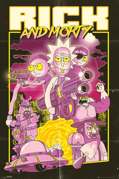 Rick and Morty - Action Movie Affiche