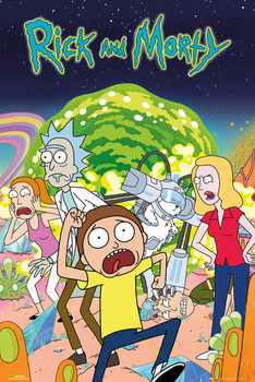 Rick & Morty - Group Affiche