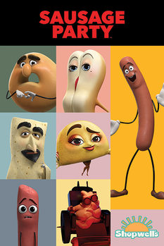 Saucisse Party - Characters Affiche