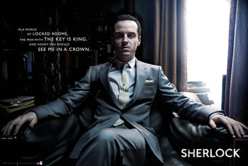 Sherlock - Moriarty Chair Affiche
