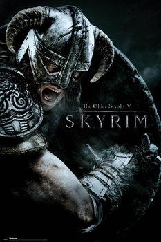 Skyrim - Attack Affiche