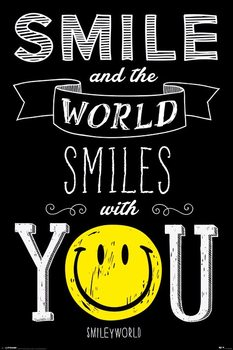 Smiley - World Smiles WIth You Affiche