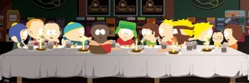 SOUTH PARK - last supper Affiche