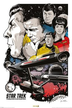 Star Trek - Boldly Go  50th Anniversary Affiche