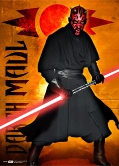 STAR WARS - darth maul Poster en 3D