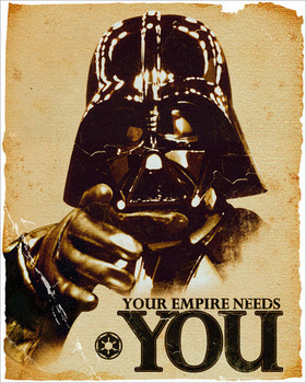 STAR WARS - empire Affiche