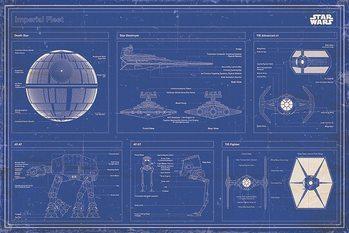 Star Wars - Imperial Fleet Blueprint Affiche