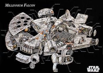 Star Wars - Millenium Falcon Affiche