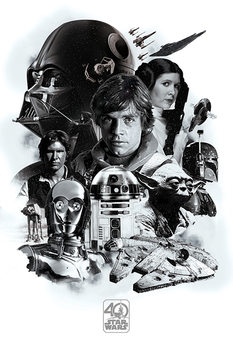 Star Wars - Montage (40th Anniversary ) Affiche
