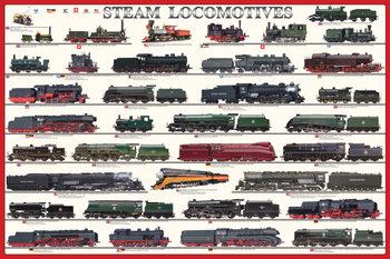 Steam locomotives Affiche