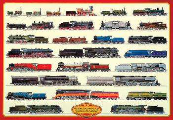 Steam locomotives II Affiche