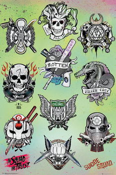Suicide Squad - Tattoo Parlor Affiche