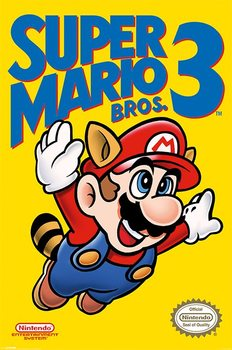 Super Mario Bros. 3 - NES Cover Affiche