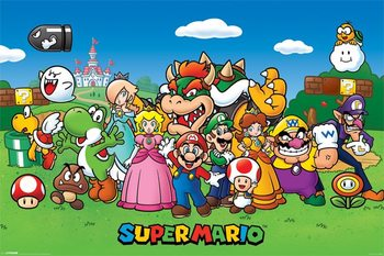 Super Mario - Characters Affiche