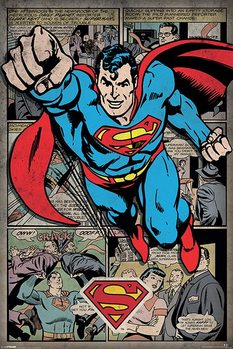 Superman -  Comic Montage Affiche
