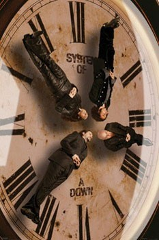 System of a Down - clock Affiche