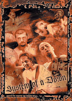 System of a Down Splatter Affiche