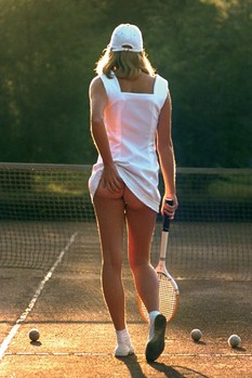 Tennis Girl Affiche