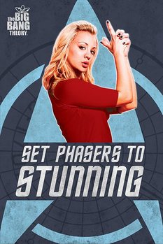 THE BIG BANG THEORY - phasers Affiche