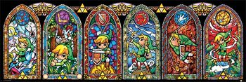 The Legend Of Zelda - Stained Glass Affiche