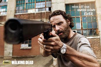 The Walking Dead - Rick Gun Affiche