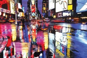 Times squareS - colours Affiche
