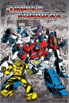 Transformers G1 - Retro Comics Affiche