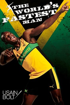 Usain Bolt - fastest man Affiche