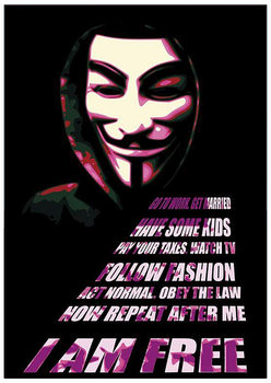 V pour Vendetta - Mask Affiche