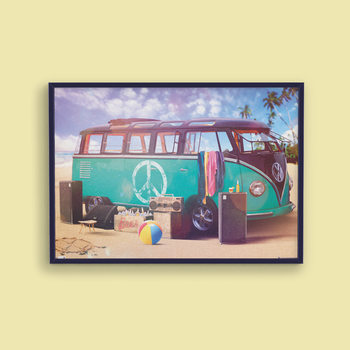 VW Volkswagen Camper - party Affiche