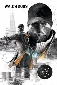 Watch dogs - city  Affiche