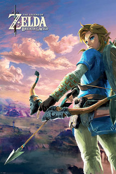 Zelda Breath of the Wild - Hyrule Scene Landscape Affiche