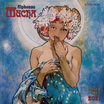 Calendar 2021 Alphonse Mucha - Poster Art