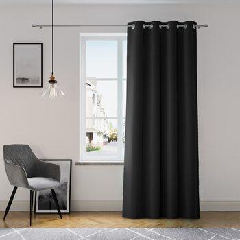 Curtain Amelia Home - Eyelets Black 1 pc