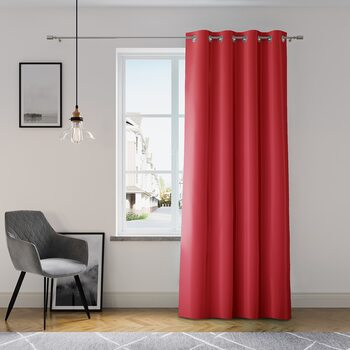 Curtain Amelia Home - Eyelets Red 1 pc