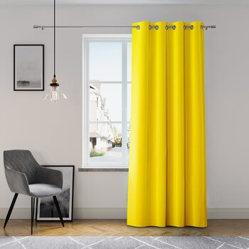 Curtain Amelia Home - Eyelets Yellow 1 pc