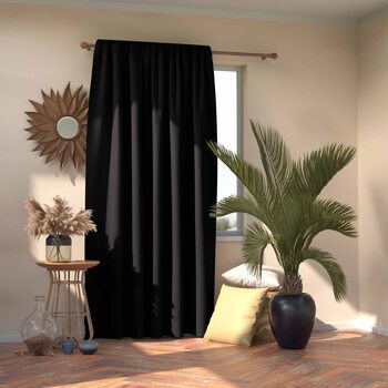 Verho Amelia Home - Pleat Black 1 kpl