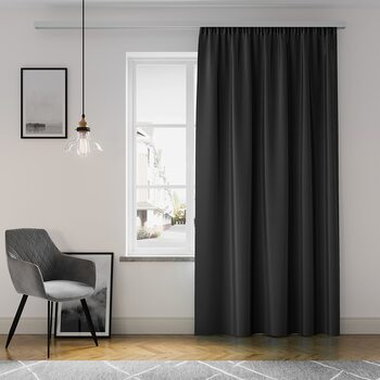 Cortina Amelia Home - Pleat Black 1 pc