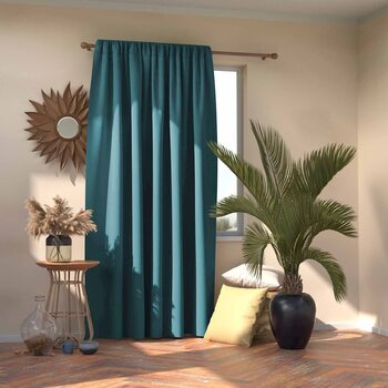 Curtain Amelia Home - Pleat Blue 1 pc