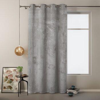 Curtain Amelia Home - Velvet Silver 1 pc