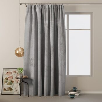 Curtain Amelia Home - Velvet Silver 1 pc