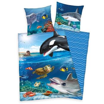 Bed sheets Animal Club - Ocean
