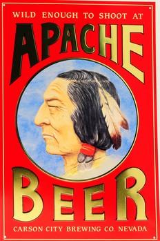 APACHE BEER Plaque métal décorée