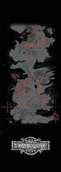Poster A Guerra dos Tronos - Mapa