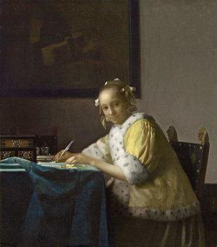 Taidejuliste A Lady Writing, c. 1665