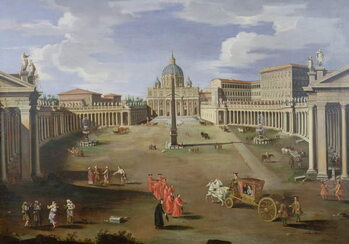 Fine Art Print A View of St. Peter's in Rome