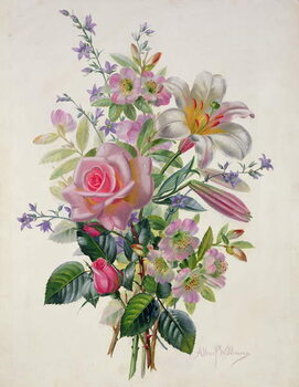 Taidejuliste AB/211 A Pink Bouquet