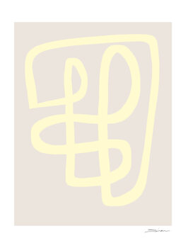Illustration Abstract yellow line